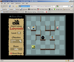 Oxford Library Labyrinth Game