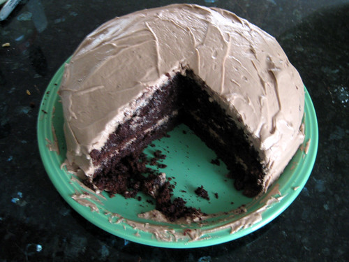 Chocolate Cake with Mocha flavored Frosting