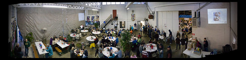 Calapooia Brewing Atrium Panoramic at Crab Feed 2010