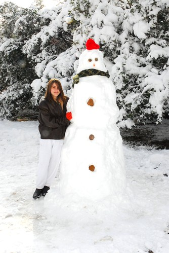 Rebecca and Her Snowman