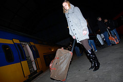 100 strangers project, picture 89 of 100 (Just a guy who likes to take pictures) Tags: voyage travel light portrait people woman holland public netherlands lamp girl station amsterdam fashion modern female night project dark hair photography boot shoe noche reisen shoes europa europe long dress boots nacht ns feminine coat transport nederland thenetherlands strangers bahnhof tights skirt hauptbahnhof blond transit blonde infrastructure holanda 100 lamps mass frau portret jas mode schoenen schoen dunkel donker niederlande centraal mantel reizen ov haren lange the haar vervoer laarzen openbaar public laars transport 100strangers