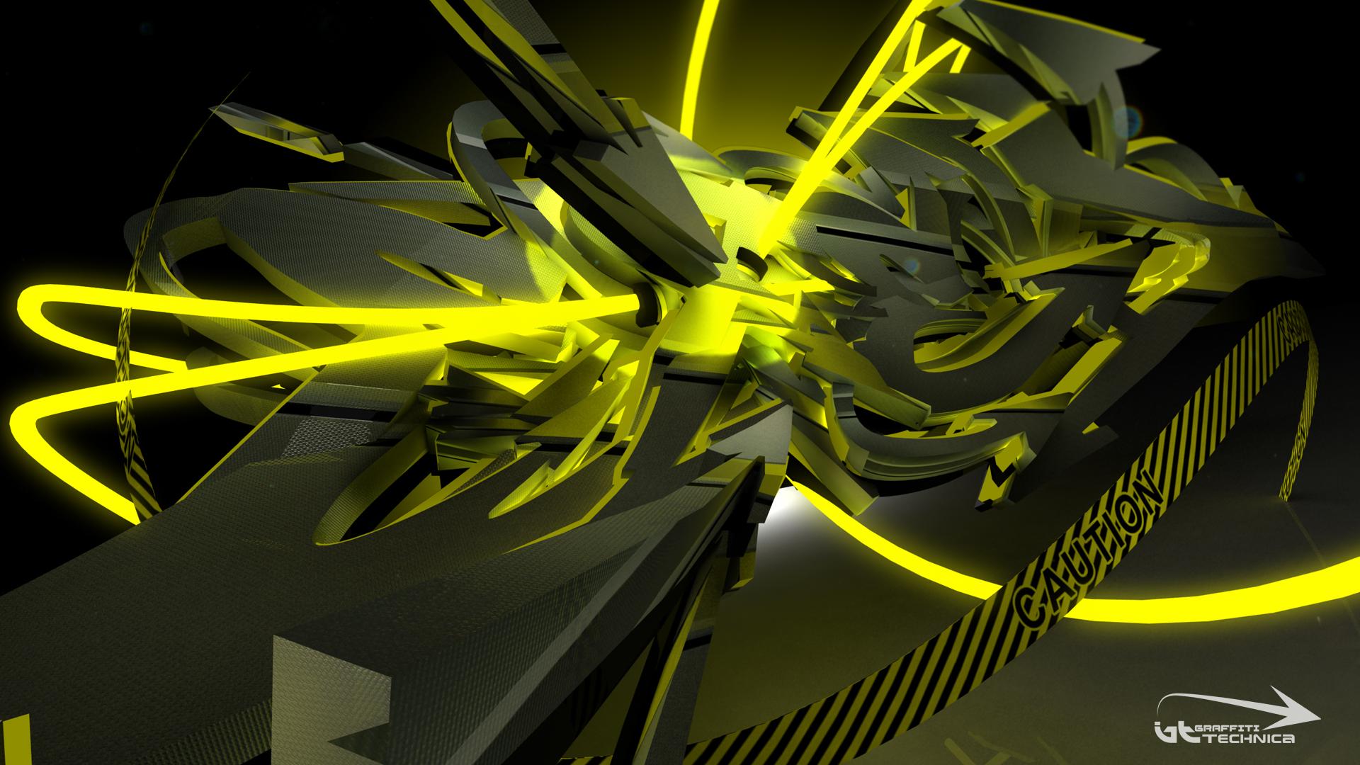 3d Graffiti Wallpaper Extend Graffiti Technica