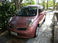 Micra front (Suzieboots) Tags: pink car nissan elvis micra firstcar belgianchocolate citycollection londonrose