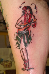 Hula Girl,pin up, Traditional Tattoo, by, KeelHauled Mike, Black Anchor ,Tattoo, Denton Maryland (KeelHauled Mike) Tags: mike tattoo by dc washington metro maryland baltimore area hulagirl pinup traditionaltattoo dentonmaryland keelhauledmike keelhauled blackanchor wwwkeelhauledmikecom wwwblackanchortattoocom
