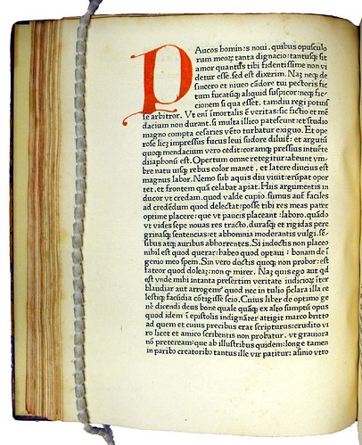 Manuscript initial in Petrarca, Francesco: De vita solitaria