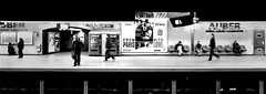 From Paris With Love (philoufr) Tags: blackandwhite paris subway noiretblanc métro panoramic quay quai ratp sncf panoramique 617 6x17 auber rera canonpowershots90