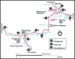 Norris Geyser Basin to Madison Junction Route (SeattleRay) Tags: yellowstonenationalpark seattleray spendadaytouring maps route vacation visit travel drive viewpoints phot