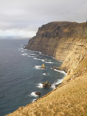 Vertical Cliffs and The North Atlantic Ocean