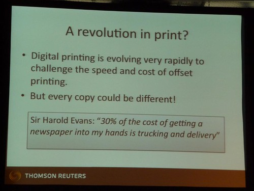 Digital printing can cut costs and offer customers bespoke newspaper content