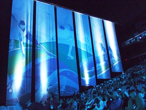 Cool Banners at Olympic Victory Ceremonies