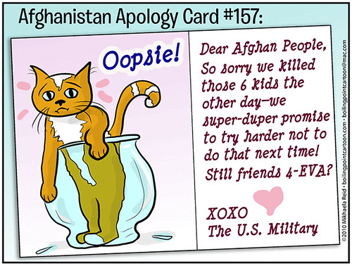 Afghan civilian deaths, cartoon
