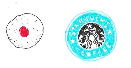 jam doughnut + coffee