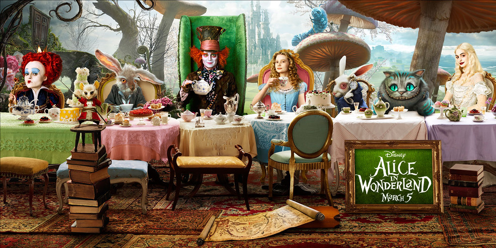 Alice in Wonderland 2010 movie art poster