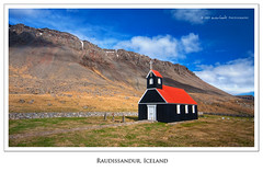 Lil Red Church (Dylan Toh) Tags: cliff mountain west church iceland exposure fjord hdr blend raudissandur