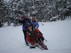 Clare, Kat, & Emma Celebrate 9 Mile Ski