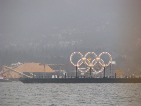 Olympic Rings in Coal Harbour