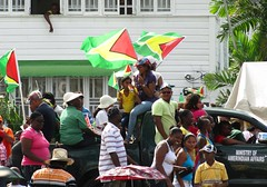 Revelry (NigelDurrant) Tags: road carnival party house streets southamerica car festival 40th republic anniversary flag flags guyana georgetown mashramani caribbean 1970 van festivities celebrating 2010 carnivals february23 amerindian guyanaese stphotographia