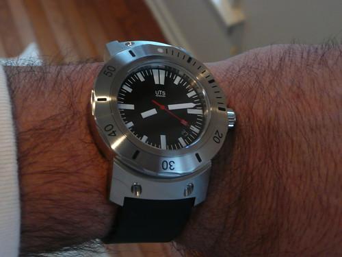 Black Chronograph Watch Swiss Made
