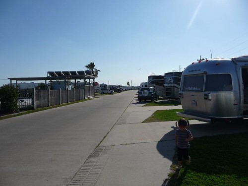 rows of RVs.