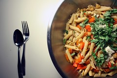 Thumbnail image for Penne with Chickpeas, Tomatoes & Feta