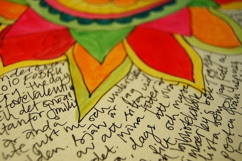 Mandala flower and flowing text (Photo by iHanna - Hanna Andersson)