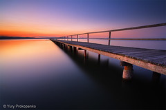 Sunset at Long Jetty, Tuggerah Lake (-yury-) Tags: sunset lake water pier jetty tranquility australia nsw centralcoast calmness tuggerah theentrance supershot longjetty abigfave