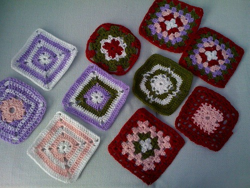 arien156 Your Squares have arrived! All the way from Singapore! :) What beautiful designs and colours! Thank you! :)