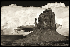 The Right Mitten (Dan.Heacock) Tags: new trip red arizona white black ice dan monument rock sepia clouds mexico utah amazing nikon colorado desert awesome climbing national valley thunderstorm tone d300 heacock danheacock thedan86