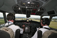 Cockpit Of Air Chathams Convair CV580 (Nick Young Photos) Tags: old newzealand plane airport cockpit nz northisland napier cv 1022 hawkesbay 580 convair npe airchathams