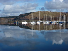 At rest (Fred J Carss) Tags: haven west marina boats coast scotland yacht yachts fishingboat craobh