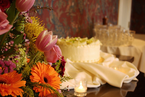 shower : flowers, cake
