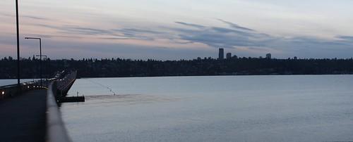 Seattle skyline & the I-90 Floating Bridge