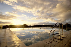 Morning Reflection (Ting Hay) Tags: morning sky reflection sunrise swimmingpool wa margaretriver hdr bunkerbay d40