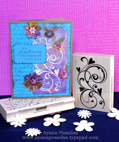 Friendship Heart Flourish Card
