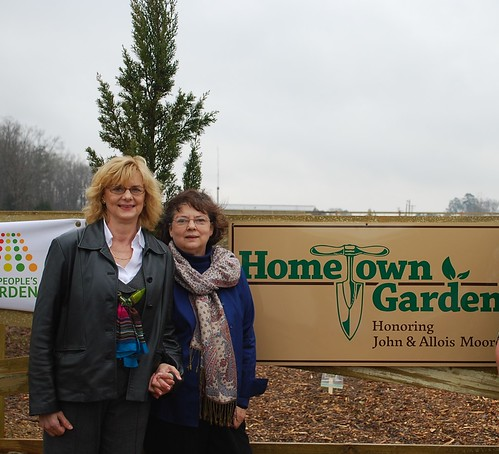 Jill Burkindine of Manhattan, Kan., and Jane Ray of Carthage, Texas, sisters, own the land where the more than one acre Hometown Garden is located at the USDA Service Center in Carthage. This is a unique garden. It's a U.S. Department of Agriculture People's Garden national initiative site. It also is the only privately owned initiative garden in the world.