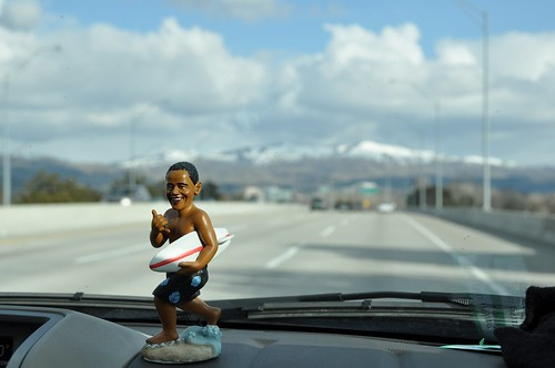 Obama on the road