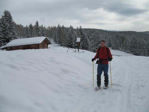 Winterliche Landschaft im Skigebiet Meran 2000 in Hafling