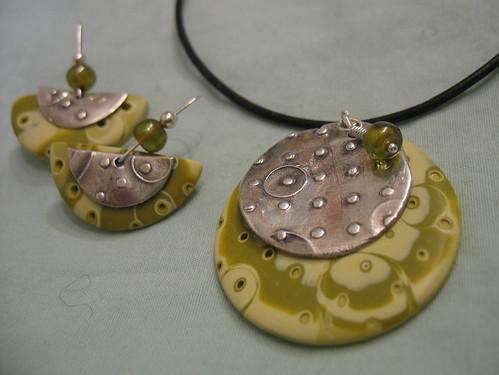 Earrings and pendant set #1