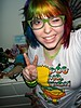 Peace ;D (Megan is me...) Tags: blue red portrait orange color green colors smile up fashion rose yellow shirt self hair effects photography one diy clothing crazy rainbow eyes colorful neon pretty colours russell mckay bright cut unique awesome meg bart violet plum megan style nuclear special clothes kind fishbowl together iguana jerome colored tied piccolo tee mayhem simpson punky striped bleached kissmyass dyed stpatricksday napalm 2010 sfx rosered megface pogmothon meganisme bleachednapalmorange greenpiccolo