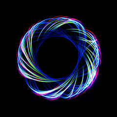 rotation 8 (andrew hall1) Tags: longexposure lightpainting geometric patterns lighttrails parabola spirograph physiograms