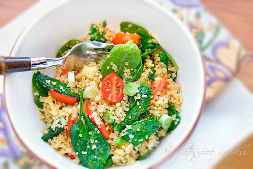 ... Goddess® Recipes: Quinoa Salad with Baby Spinach and Grape Tomatoes