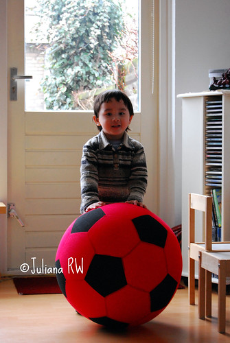 With red ball
