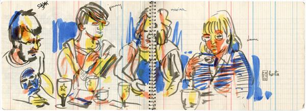 sketching day in horta