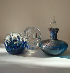 Rhapsody in Blue. (Esther Spektor - Thanks for 16+millions views..) Tags: lighting blue stilllife macro art glass design bottle shapes simplicity sensational everydaylife stillphotography supershot bej colourartawards goldstaraward