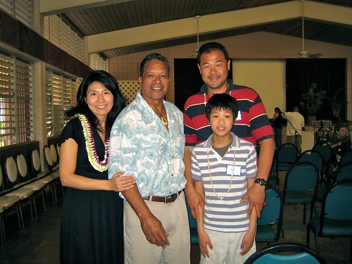 Pastor Dennis with the Kato family from Japan