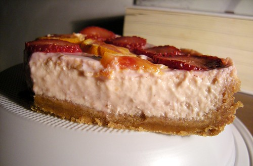 fetta cheesecake fragola