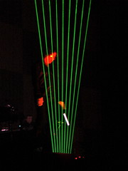 Jean (Michel Jarré with his electronic harp.  Picture by Hector Zenil, Paris concert 2010)