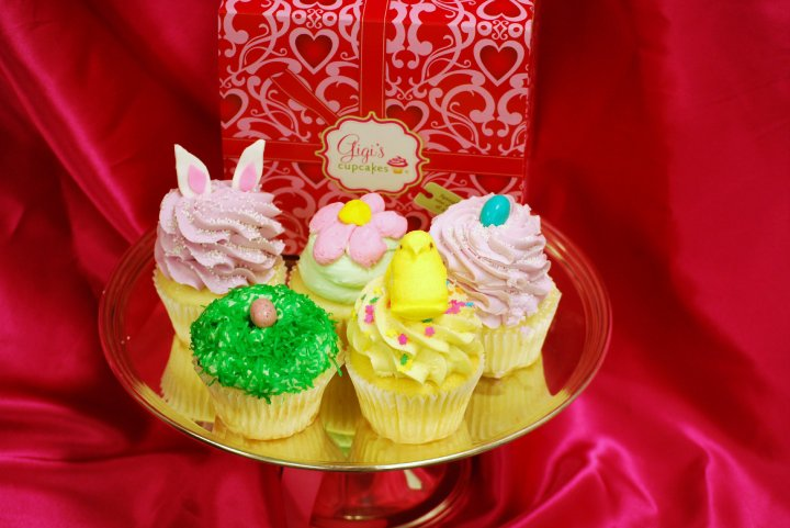 easter cupcakes with peeps. Bunny ears and Peeps: Easter