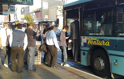 Queueing for the 703 at Bentleigh Station