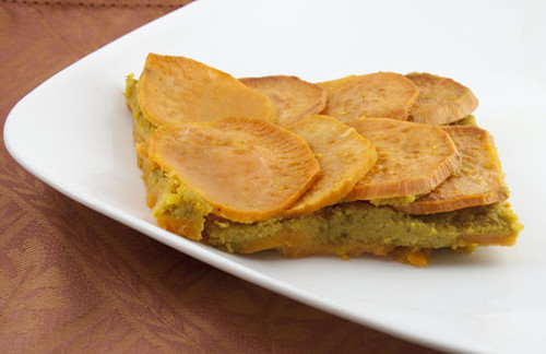 Cake, Batter and Bowl: Curried Chickpea Sweet Potato Squares